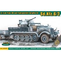 ACE_72573_SDKFZ.6-_3.7cm_Flak_36_auf_Fahrgestell_MZGKW_1-72