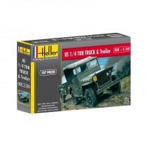 heller_81105_us_jeep_-1-4-ton-truck-trailer