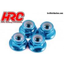 HRC_4_Ecrous_M4_Anodisé_Bleu