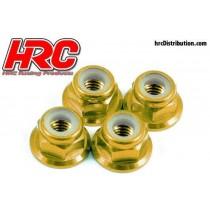 HRC_4_Ecrous_M4_Anodisé_Gold
