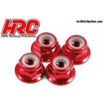 HRC_4_Ecrous_M4_Anodisé_Rouge