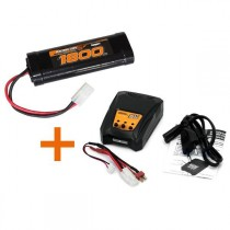 KONECT KN-CHARGPACK01 KIT CHARGEUR + 1 BATTERIES NIMH 7.2V 1800MAH