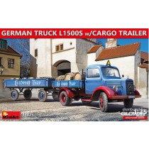 MiniArt_38023_German_Truck_L1500S_With_Cargo_Trailer_1-35