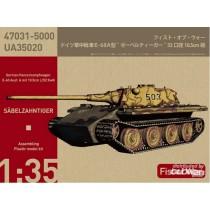 Modelcollect_UA35020_Sabelzahntiger_E60_Ausf.A_10.5cm_Kwk_1-35