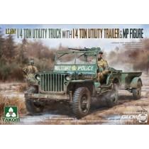 Takom_2126_US_Army_1-4_Ton_Utility_Truck_with_Trailer_1-35