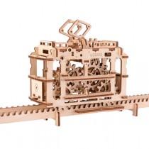 Ugears_70008_Puzzle_3D_Mecanique_en_Bois_Tram