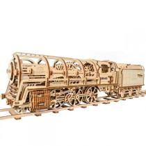 Ugears_70012_Puzzle_3D_Mecanique_en_Bois_Locomotive