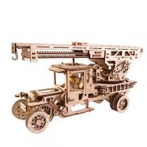 Ugears_70022_Puzzle_3D_Mecanique_en_Bois_Camion _Echelle