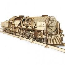 Ugears_70058_Puzzle_3D_Mecanique_en_bois_Locomotive